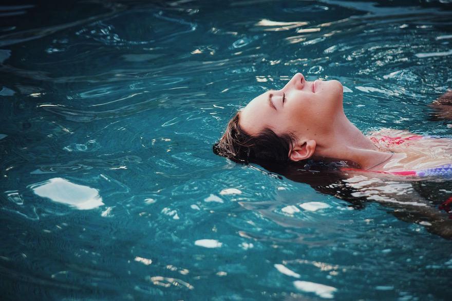 Kalte-Dusche-Herausforderung Relax